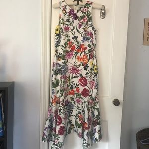 Maggy London Floral Print Midi Dress